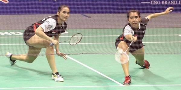 Pemain ganda putri Indonesia, Anneke Feinya Agustin (kiri)/Nitya Krishinda Maheswari.